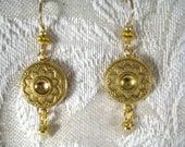 GOLD GILT BUTTON Earrings