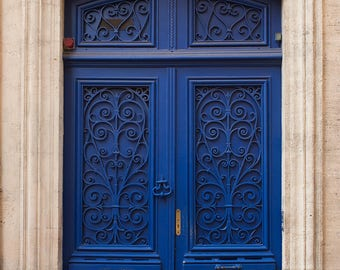 Door Photography, Blue Door in Bordeaux France, Door 91, Blue Door Photo, Rebecca Plotnick, French Wall Art, Bordeaux France