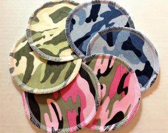 Variety Pack of 6 Camo Cloth Nursing Pads