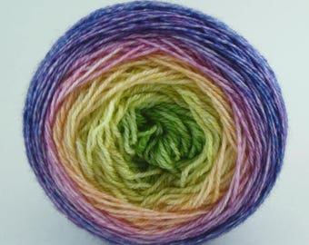 BIG SUMMER SALE New Yarn of Letters - Yuuka Sw Merino Fingering Gradient Shawl Maki - I'm Way More of a Daphne