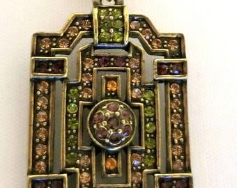 Heidi Daus Lariat Necklace Embellished Crystal pendant