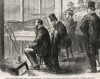 Antique Print of Rifle Testing - Victorian Newspaper Illustration dated March 8, 1862