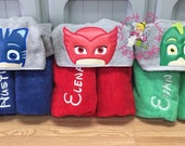 PJ Masks Birthday ~ Owlette Towel ~ Gecko Towel ~ Catboy Towel ~ Swim Lesson Towel ~ Beach Towel ~ Pool Towel