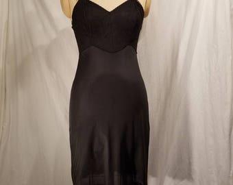 Vintage black slip, 36