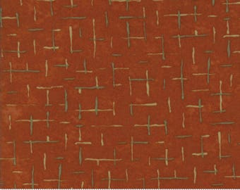 Red Curry Fall Impressions Flannel Fabric - 6704 13F - Holly Taylor - Moda