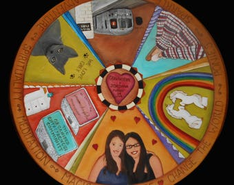 """HANDCRAFTED LAZY SUSAN - Wedding gift - Handmade 20"""" lazy susan - birthday gift - centerpiece - Wedding gift/ wedding table/  Made To Order"""