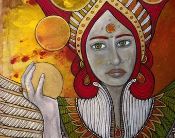 Eos Greek Goddess of the Dawn Original Artwork by Lynnette Shelley