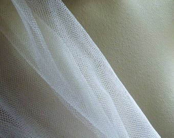 """Ivory Silk Tulle Illusion from England 50"""" wide for Bridal, Millinery, Costumes"""