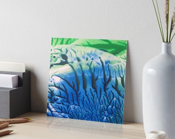 Encaustic Undersea Coral Abstract Art Board / Art for Small Spaces / Collectible Small Format Art / Made to Order in 3 Sizes