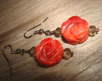 Stone Floral Earrings - FREE SHIPPING!