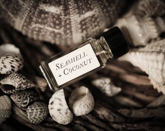 Seashell + Coconut™ - Strange Companion Blend™ - Natural Perfume Oil with tropical, summer, beach scent, coconut perfume, seashell lovers