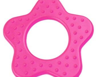 Flower teething sewing fuchia pink color