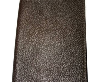 15% OFF Chocolate Brown Leather Passport Cover - Sandali Accessories