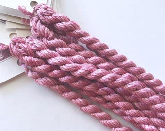 Pink Panther Limited Edition Silk Floss hand dyed by The ThreadGatherer. Embroidery Floss. Silk Cross Stitch Floss. Silk Thread.