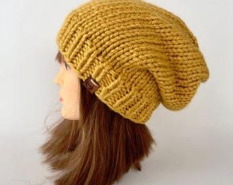 ON SALE Slouchy Beanie / Hand knitted beanie / knit beanie / winter knit hat / winter knit slouchy hat / chunky slouchy hat / slouchy knit b