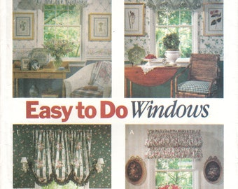 UNCUT Easy to do windows Butterick sewing pattern 6032