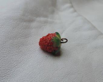 glass charm raspberry glass fruit czech glass