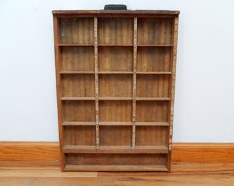 "vintage wooden printer drawer, letterpress, Hamilton, 22"" by 16"", home decor, wall decor, industrial"