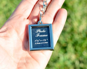 BULK 10 Silver Picture Photo Keychains  F579