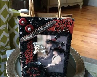 Halloween Gift Bag - October Birthday Gift Bag - Halloween Witch Gift Bag