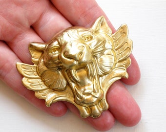 1 X large TIGER head with wings 67mm x 54mm (FF43)