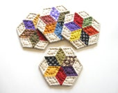 Quilted Coasters, Fabric Coasters, Drink Coasters, Mug Mats, Rustic Home Decor, Housewarming Hostess Gift Country Home Decor Farmhouse Decor
