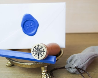 Wax Seal Stamp with 2 Sealing Wax Sticks - Compass Rose