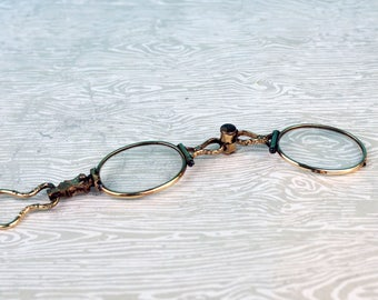 Gold Filled Lorgnette Reading Glasses