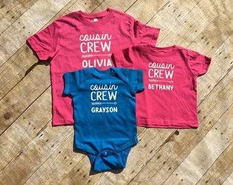 Personalized Cousin Crew. Cousin Crew shirts. Cousin Crew shirts. Cousin Squad. Cousin tribe. All sizes. Cousins Best Friends