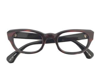 Never Used Vintage Wayfarers 60s Eyewear Classic Geek Nerd Preppy Eyeglasses Frames New Old Stock Guinness Brown Ale & Black