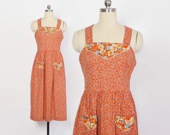 Vintage 70s Halter Dress / 1970s Black & Pink Silky Floral Maxi Wrap Dress XS - S
