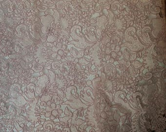 Beautiful Subtle Shell Pink Vintage Lace Fabric