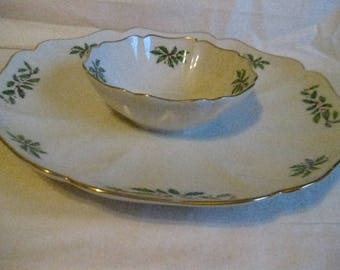 Lenox China Christmas Veggie or Chip and Dip Tray