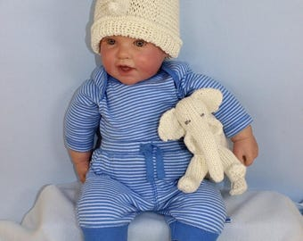 40% OFF SALE Instant Digital File pdf download Knitting pattern-Baby Elephant Toy and Beanie Hat and Booties Set pdf download knitting patte
