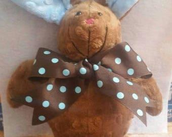 Flash Sale Easter Bunny - Bunny Rabbit - Easter Basket - Soft Toy - Plushie  - stuffed animal - gift for baby - minky dot stuffed animal - s