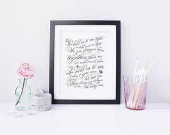 Custom Print, Wedding Song Print, Wedding Gift, Newlywed Gift, Anniversary Gift, Wedding Print, First Dance Song, Typography Print