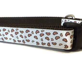 Dog Collar, Cheetah,  1 inch wide, adjustable 18-26 inches, quick release