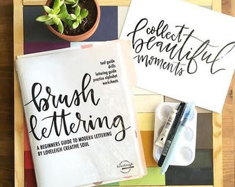 PRE ORDER Brush Lettering + Marker Guide Kit