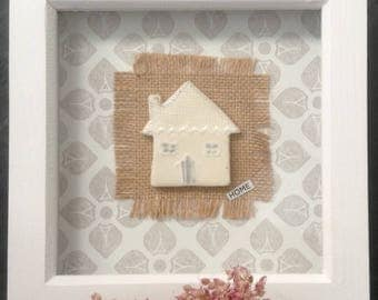 Ceramic House/Home, Wall Hanging, Picture.