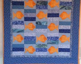 Vibrant Goldfish Quilt