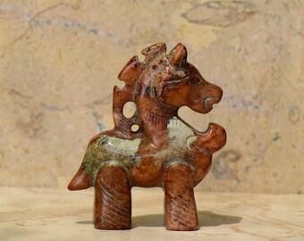 Vintage Jade War Horse Figurine Statue