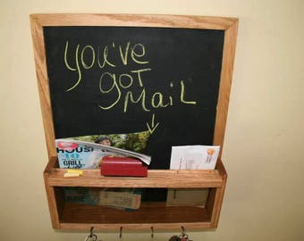 Chalkboard and mail organizer