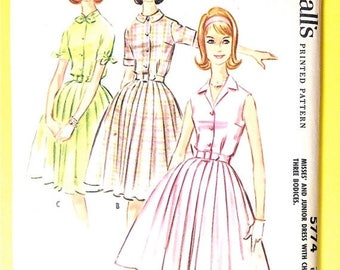 ON SALE 1950s McCall's 5774 Misses' Dress with Three Bodices Vintage Sewing Pattern Bust 33
