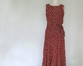 CINNAMON // vintage 80s does 30s dropwaist dress