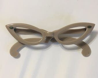 1950s Taupe cateye glasses