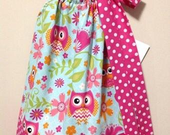 Ready to Ship!  Adorable Owls Pillowcase Dress Size 2
