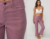 70s Levis Jeans Bell Bottoms Pants Jeans Purple High Waisted Trouser Hippie Flared Hipster 1970s Bohemian Vintage Boho Small