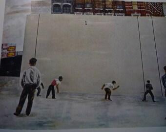 Vintage - Ben Shahn, Handball, 1939  - Framed Print American realist - art lovers - color plate social realism gift 1930s America New York