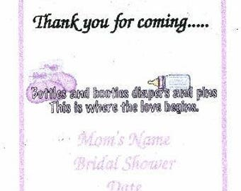 Pink Baby Shower Party Favor Tags ~ H466