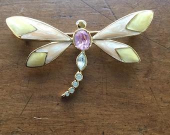 Vintage KJL Kenneth J Lane for Avon Enamel Dragonfly Pin